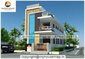 Double story house elevation design