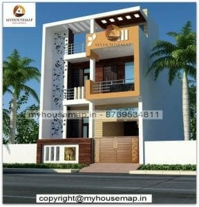 Double story house front elevation designs