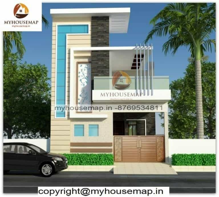 Double story simple home elevation