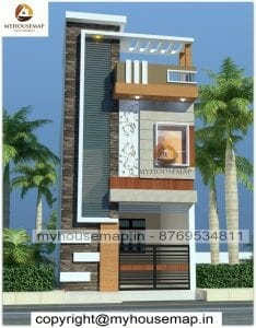 Front 2 floor house elevation