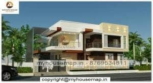 Front elevation contemporary house design
