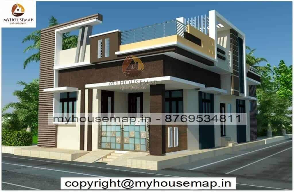 Front elevation for single floor 30.35