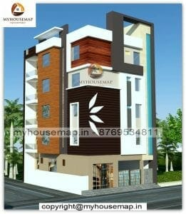 Front elevation residential building