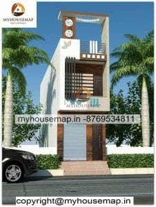 Front elevation small house 10×23