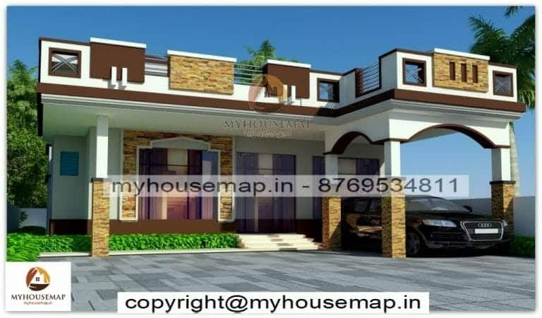 Ground floor house front elevation design