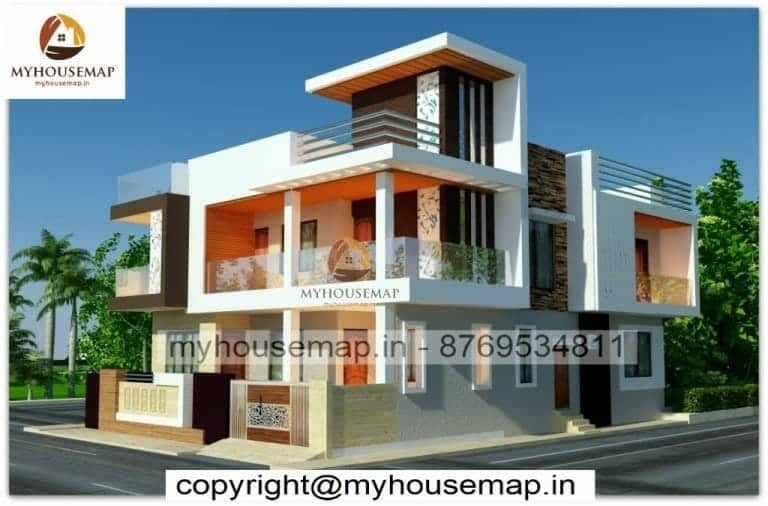 Home double story elevation design