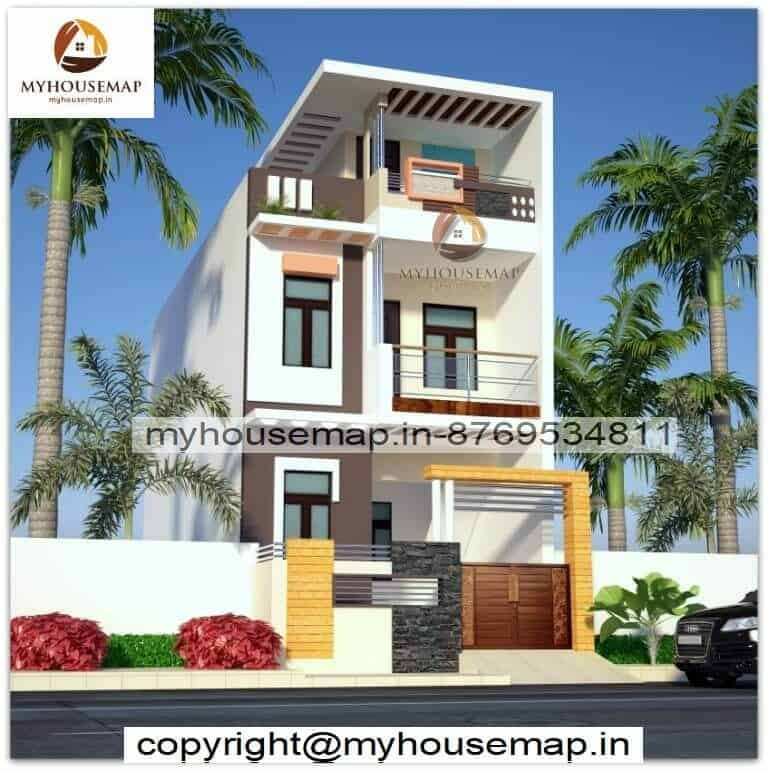 Indian normal front house design