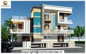 Indian style house elevation design