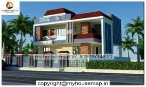 Indian style house front elevation