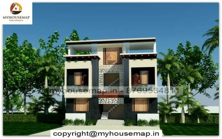 Indian style house front elevation designIndian style house front elevation design