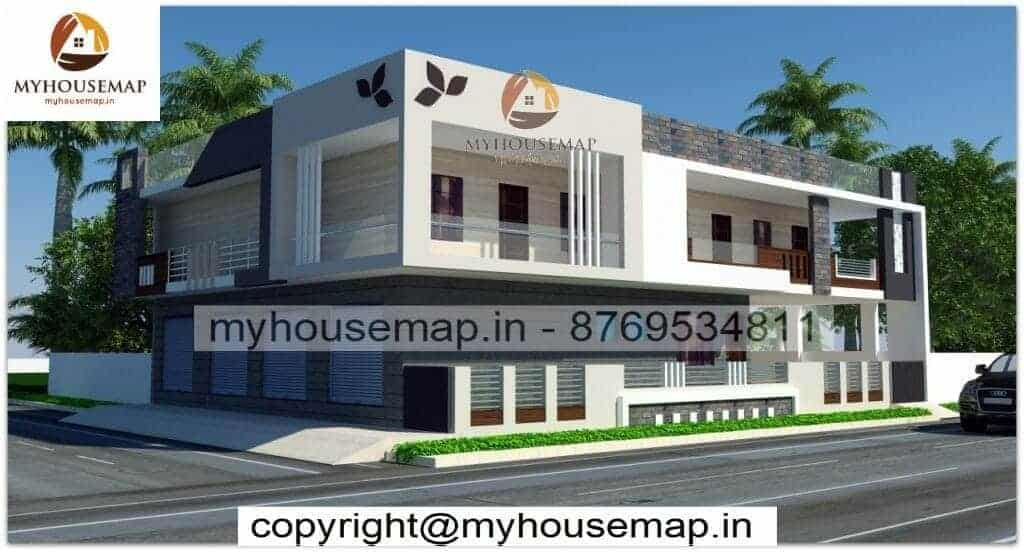 Simple home elevation double floor