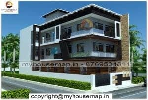 Simple indian style home elevation design