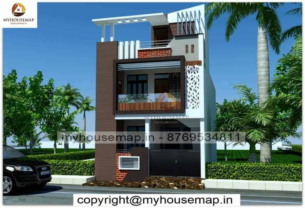 Small house 3d front elevation