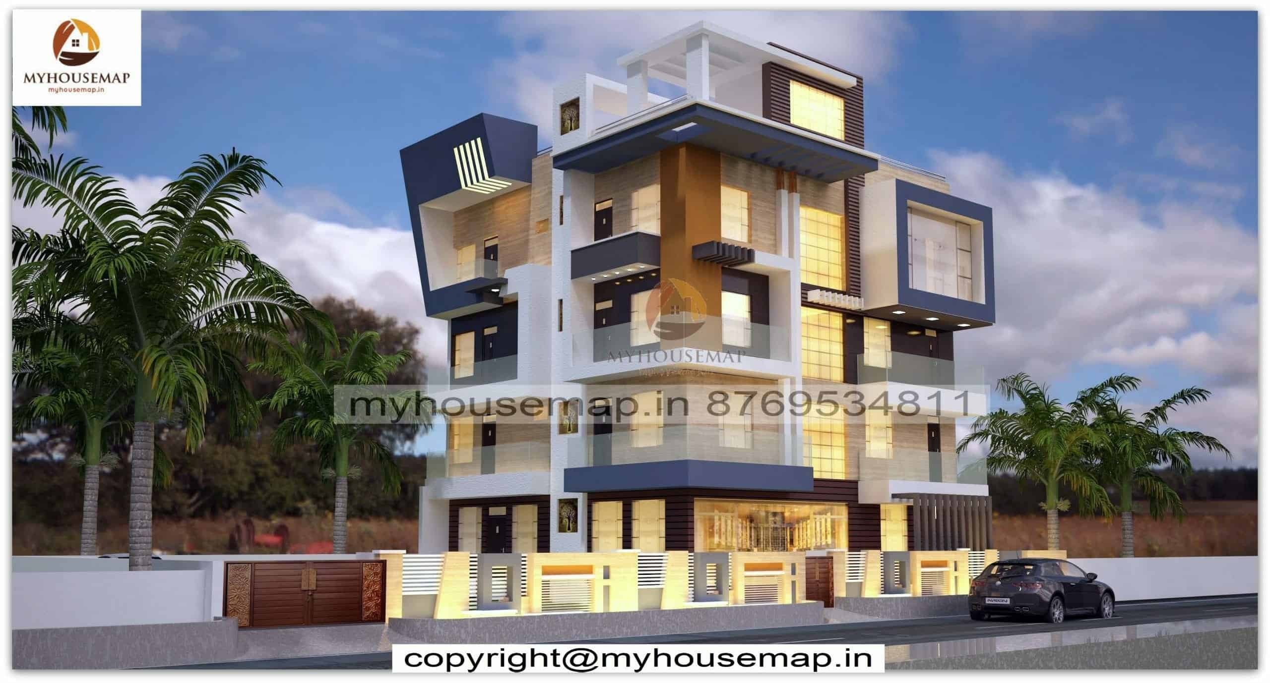 building elevation modern design