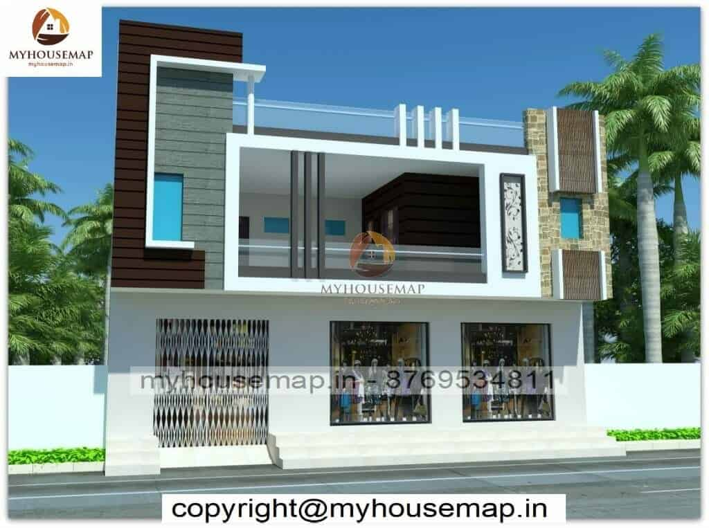 double story house front elevation design