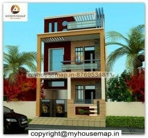 duplex front elevation normal house