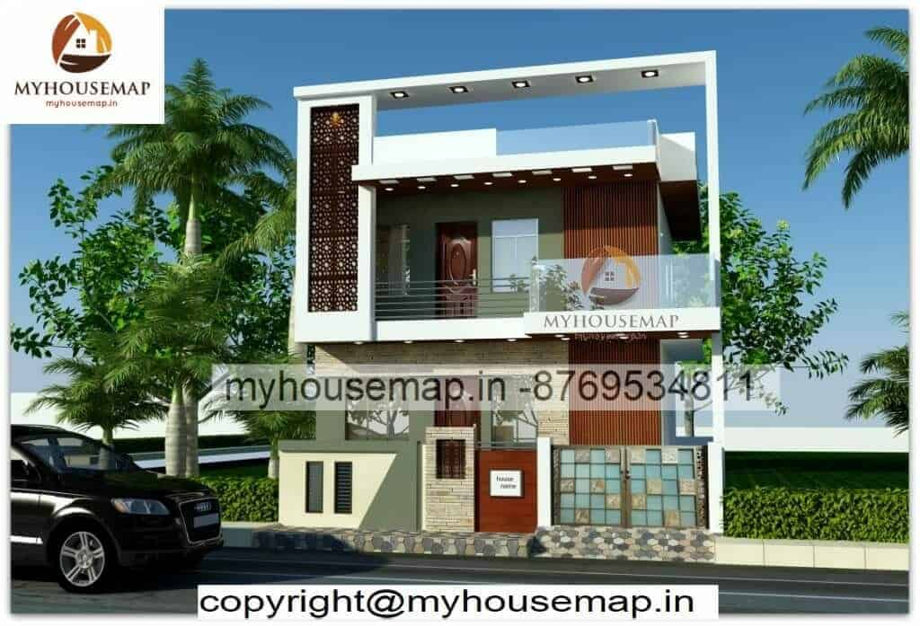 Front Elevation Design Indian Style With Boundary Wall