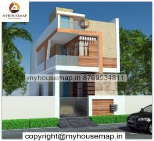 front elevation double floor normal house