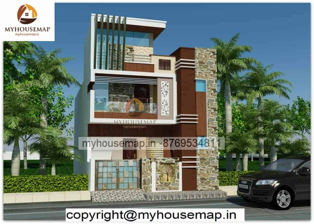 simple front elevation design single floor Archives - my ...