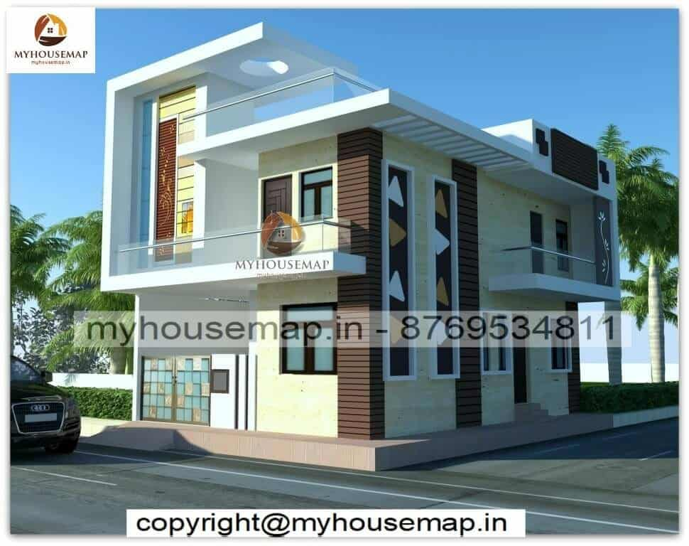 home elevation duplex house