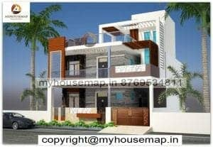 indian modern style home elevation