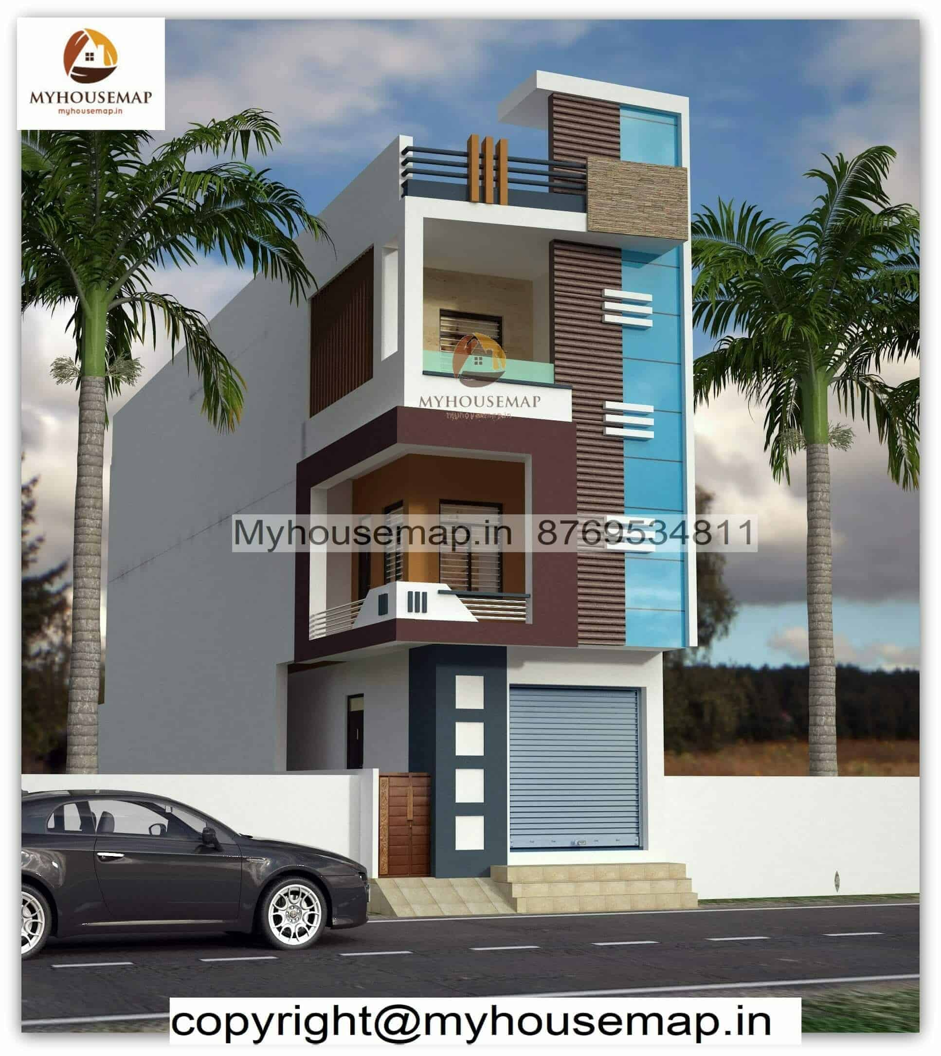 modern small house elevation