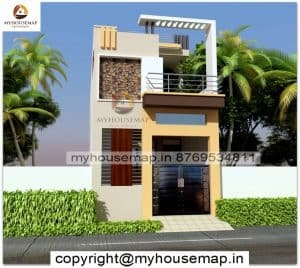 normal simple house front design
