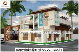 single floor normal house front elevation