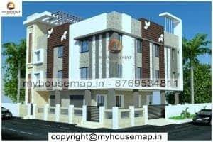 three floor house elevation