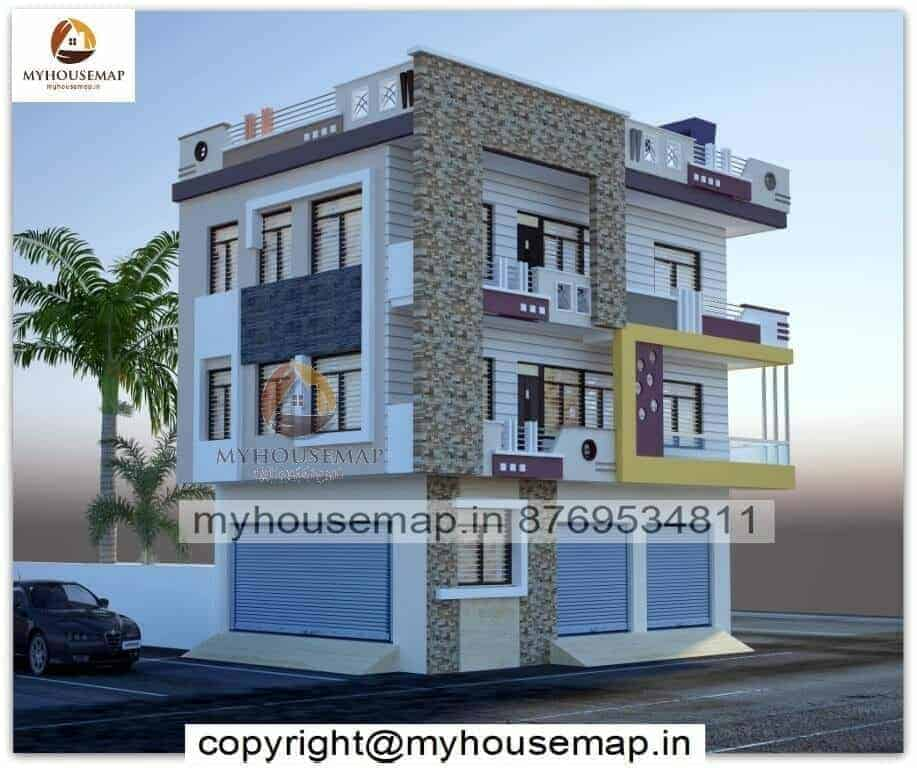 front house commercial elevation