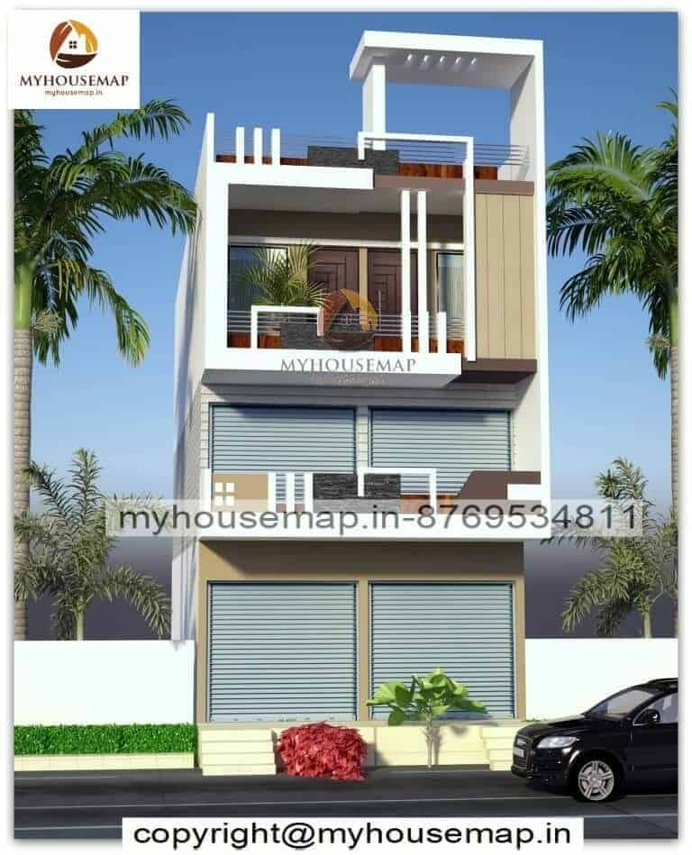 commercial house elevation design