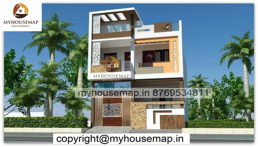 double floor home front design