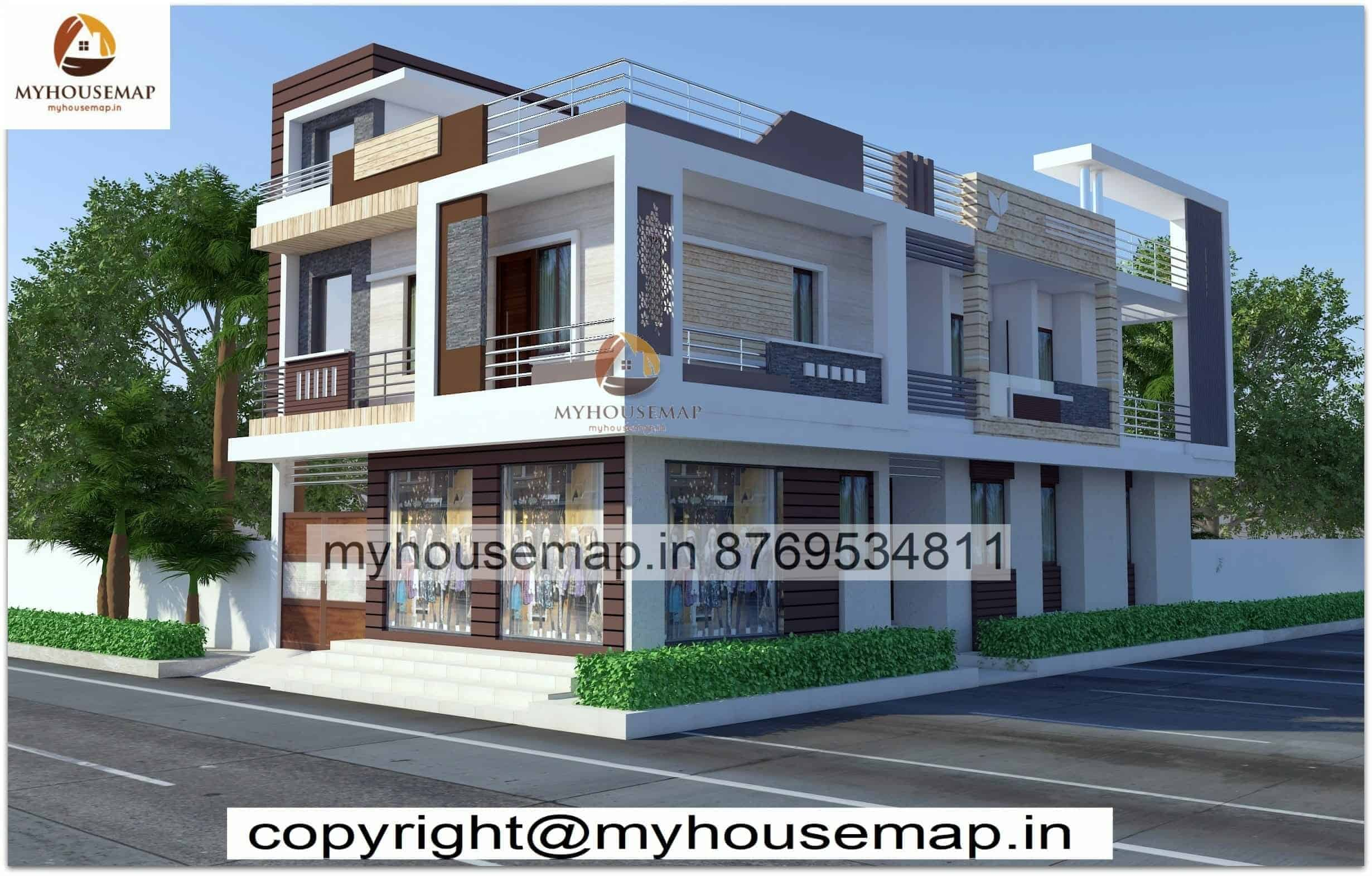 double story exterior design for home