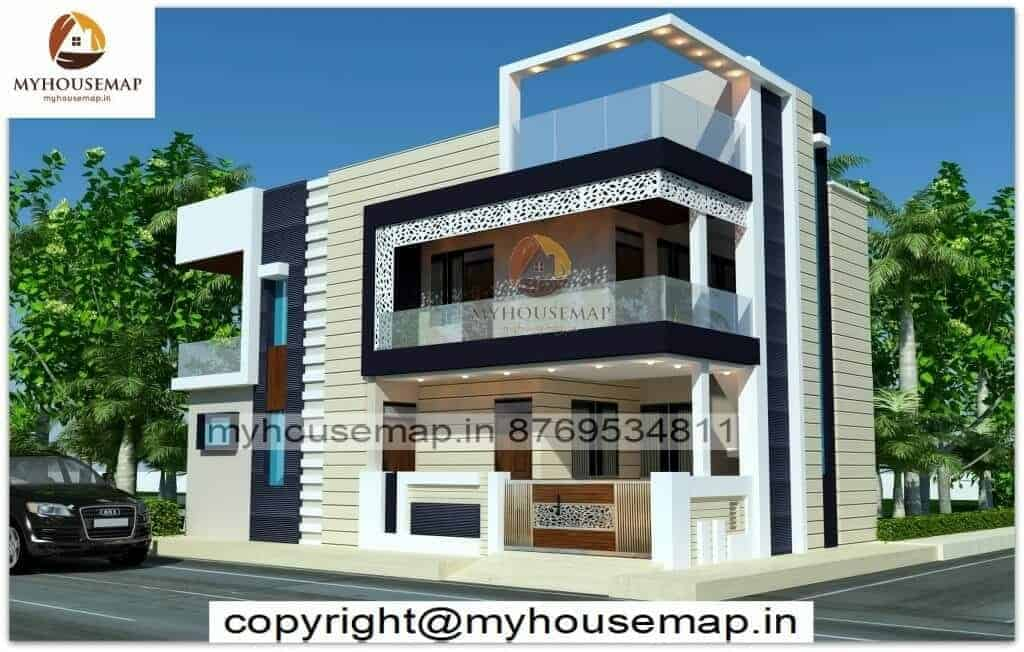 modern front simple home design