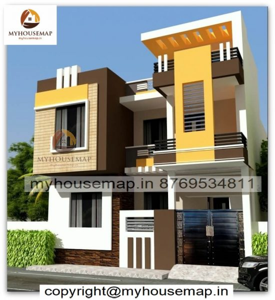 elevation design double floor
