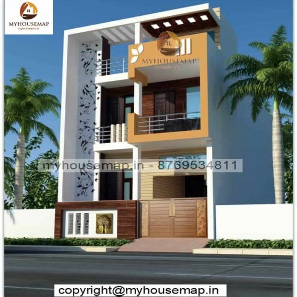 front elevation design duplex house